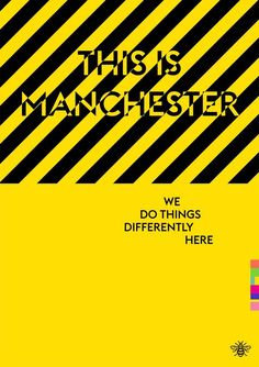 Manchester Art Prints - This Is Manchester - Unique Art from Manchester Artists University Of Manchester, Manchester Art, Manchester England, Typography Prints, Typography Design, Midland Hotel, Peter Saville, Unknown Pleasures, Graphic Design Art