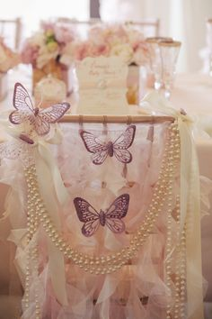 Pink Chic Butterfly Baby Shower - Bella Paris Designs