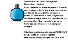 Rede Natura Espaco Resek: Desodorante Colônia Biografia Masculino - 100ml