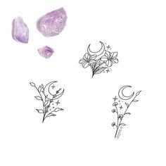 Bff Tattoos, Mini Tattoos, Cute Tattoos, Tatoos, Sleeve Tattoos, Moon Tattoo Designs, Flower Tattoo Designs, Tattoo Floral, Simple Tattoo Designs