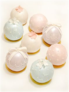 Pastels Bauble Temari Ball Wedding Engagement Cake Cherie Kelly London