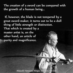 Hanzo swords took years to make.