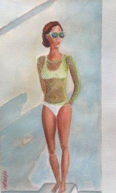 "Saatchi Art Artist Mar Ruiz Bilbao Art; Painting, ""Ray of Sun"" #art"