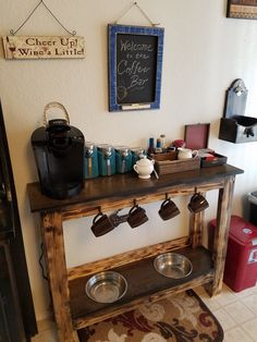 Coffee Bar/Dog Feeding Station