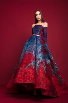 Hussein Bazaza, fall 2017 - Source by katie_lis_ fashion gowns Pretty Outfits, Pretty Dresses, Fantasy Dress, Mode Inspiration, Fashion Inspiration, Beautiful Gowns, Elegant Dresses, Couture Fashion, Evening Dresses