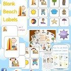 FREE Beach Themed Blank Classroom Labels - PDF file48 pages, plus 15 page how to use guide, including classroom images all designed by Clever Cl...