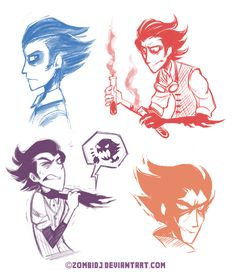 Wilson sketchies by ZombiDJ.deviantart.com on @deviantART #wilson #dontstarve