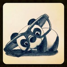 It's a cute little panda drawing :) - awwwww.
