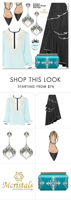 """""""Untitled #3318"""" by mada-malureanu ❤ liked on Polyvore featuring Andrew Gn, Sachin + Babi, Topshop, Oscar de la Renta and Kate Spade"""