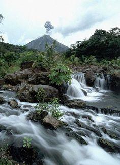 Tabacón y Volcán Arenal, La Fortuna, Costa Rica.