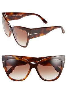 19d6c6fc1c Tom Ford  Anoushka  57mm Gradient Sunglasses available at  Nordstrom in  SHINY BLACK Kattenoog