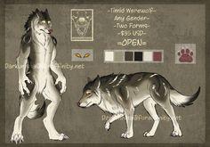 Double Werewolf Form Adopt - Open by GravitatingConundrum.deviantart.com on @DeviantArt