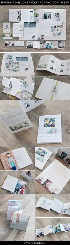 Professionally written and designed welcome packet for portrait photographers #designaglow