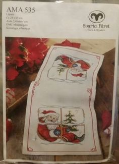 Santa-Claus-Table-Runner-Cross-Stitch-Kit