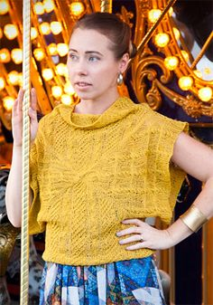 Carousel pullover : Knitty Spring+Summer 2014 gorgeous! If I could convert it into a shrug, I'd be in heaven