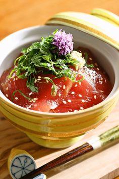 Maguro zuke don (Marinated tuna donburi) by Yoshiko Sullivan