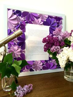 Ketubah 3d Ketubah Unique Ketubah Purple Lilac and by MioGallery, $320.00