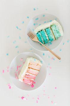 #DIY Gender Reveal Cake #recipe