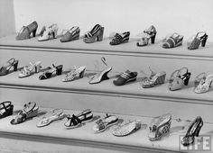 "LIFE Archive: ""Display of Ferragamo shoes. Florence, Italy"". Shot in 1947 by Alfred Eisenstaedt."