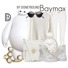 Baymax by leslieakay on Polyvore featuring Proenza Schouler, Olivia Burton and Aqua