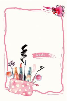 Discover thousands of images about hand painted sweet pink makeup cosmetics promotion Makeup Backgrounds, Makeup Wallpapers, Flower Backgrounds, Cute Wallpapers, Beauty Background, Paint Background, Background Images, Bare Essentials Makeup, Oriflame Beauty Products