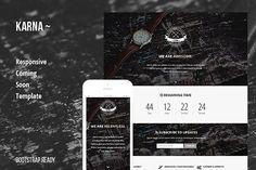 Karna - Responsive Coming Soon Page. Bootstrap Themes. $5.00