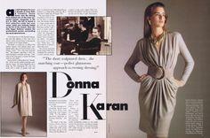 Donna Karan feature with Vogue 1958. Vogue Patterns, September/October 1987. Photos: Lynn Kohlman and Benoit Malphettes. Model: Suzanne Lanza.
