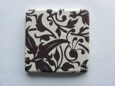 Brown and Ivory Lace Tumbled Marble Coasters by BaileyGirlCoasters, $15.00
