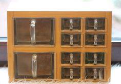 Glas Schütten Regal 10 Schütten Massiv Holz von Mitheis