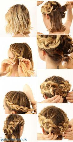 косички на короткие волосы