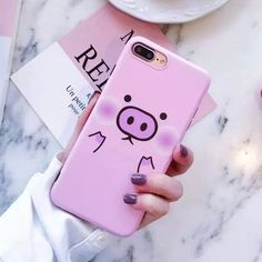 2017 New Fashion Cute Cartoon Pink Pig Phone Cases For iPhone 7 case Soft Silicone Cover Coque For iPhone 7 6 Apple Iphone, Iphone 8, Iphone Cases Disney, Iphone Cases Cute, Cute Cases, Coque Iphone, Iphone Phone Cases, Iphone 7 Plus Cases, Cell Phone Covers