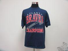 Vtg 90s Jerzees Atlanta Braves Champions Crewneck Short Sleeve t Shirt sz XL MLB #Jerzees #AtlantaBraves  #tcpkickz