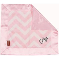 This fun, bold chevron print features a plush pink and white chevron wrapped with a pink satin on the borders and back. This trendy and sweet blanket will be your child's favorite thing to hold at bedtime or on the go. A Little Bit Of This Pink Chevron Blankie. Click the image to get more information about the product, including personalization options, at our online store!