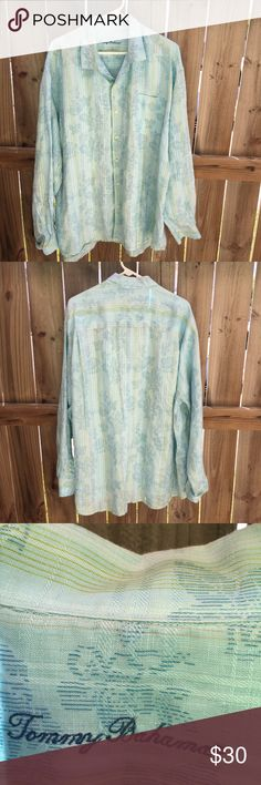 Tommy Bahama Hawaiian Floral Long Sleeve Button up Tommy Bahama Hawaiian Floral Long Sleeve Button up Shirt Sz XXL Tommy Bahama Shirts Casual Button Down Shirts