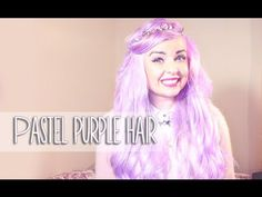 How to dye your hair pastel lilac/ lavendar/ violet - YouTube