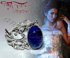 Vampire Diaries - Katherine Pierce - Lapis Lazuli - protection lapis ring - plus Vampire Diaries card