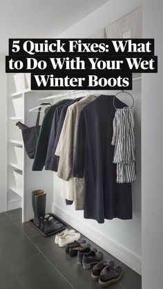 Closet Hacks, Closet Organization, Boot Tray, Apple Fritters, Studio Apartments, Skylights, Closet Designs, Winter Outfits Women, Shoe Storage