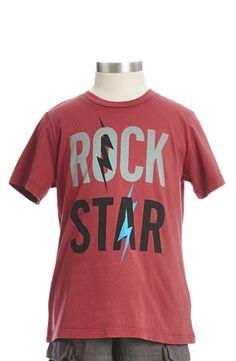 Peek 'Rock Star' T-Shirt (Toddler Boys, Little Boys & Big Boys)