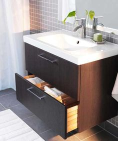 Godmorgon 2 drawer cabinet and sink combination designed by Magnus Eleback