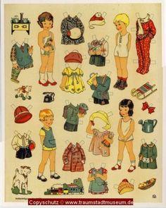 Anziehpuppen 6 verschiedene Ausschneidebogen Reprint 1925 Neuruppiner Museum | eBay