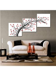 Abstract Branch Flowers 3 Piece Crystal Film Art Wall Print Nice Decor