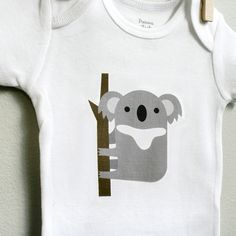 Image of Koala baby onesie for baby boy or baby girl