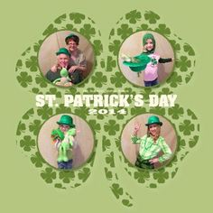 St. Patrick's Day scrapbook layouts using My Digital Studio software from Stampin' Up!