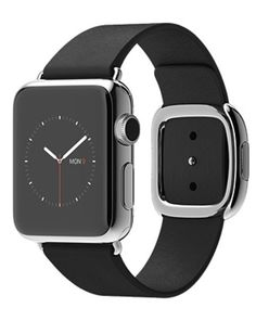 Shop Apple Watch 38mm Stainless Steel Case with Black Modern Buckle online at lowest price in india and purchase various collections of Wearable Technology in Apple brand at grabmore.in the best online shopping store in india