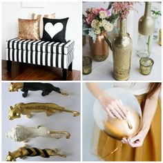 Baby Shower In Black White and Gold Chic Original Sophisticated Decor DIY