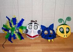 Masks made from Milk Jugs and Laundry Detergent Jugs! Too cool!