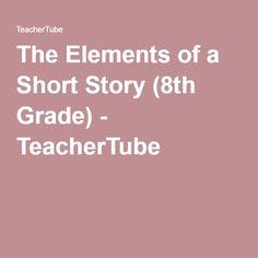 The Elements of a Short Story Grade) - TeacherTube Short Stories, Afro, Literature, English, Asian, Teaching, Literatura, English Language, Education