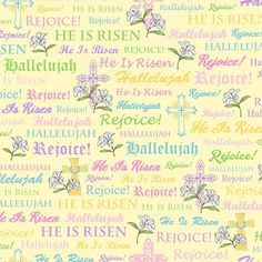 ON CLEARANCE...FABRIC JOYFUL EASTER Spiritual by DorothyPrudieFabrics