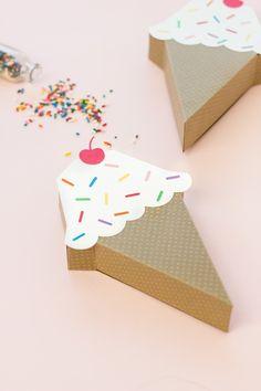 DIY Ice Cream Cone Treat Box | Studio DIY®