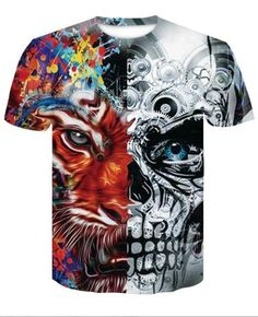 Kind-Hearted Gas Masks Printing Man Summer T-shirt Casual Short Sleeves Man Top Tee Bright In Colour Tops & Tees Back To Search Resultsmen's Clothing